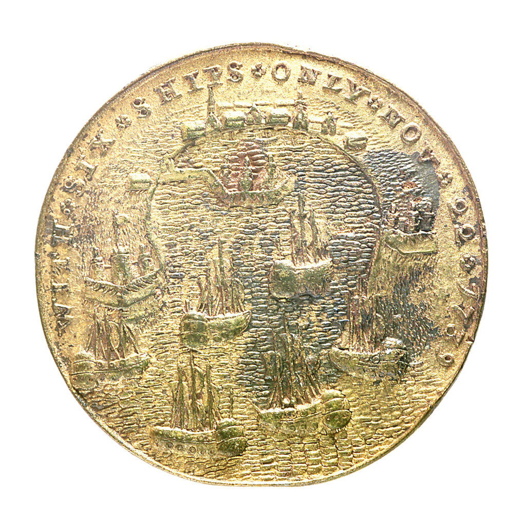 Detail of Medal commemorating Admiral Edward Vernon (1684-1757) and the capture of Porto Bello, 1739; reverse by unknown