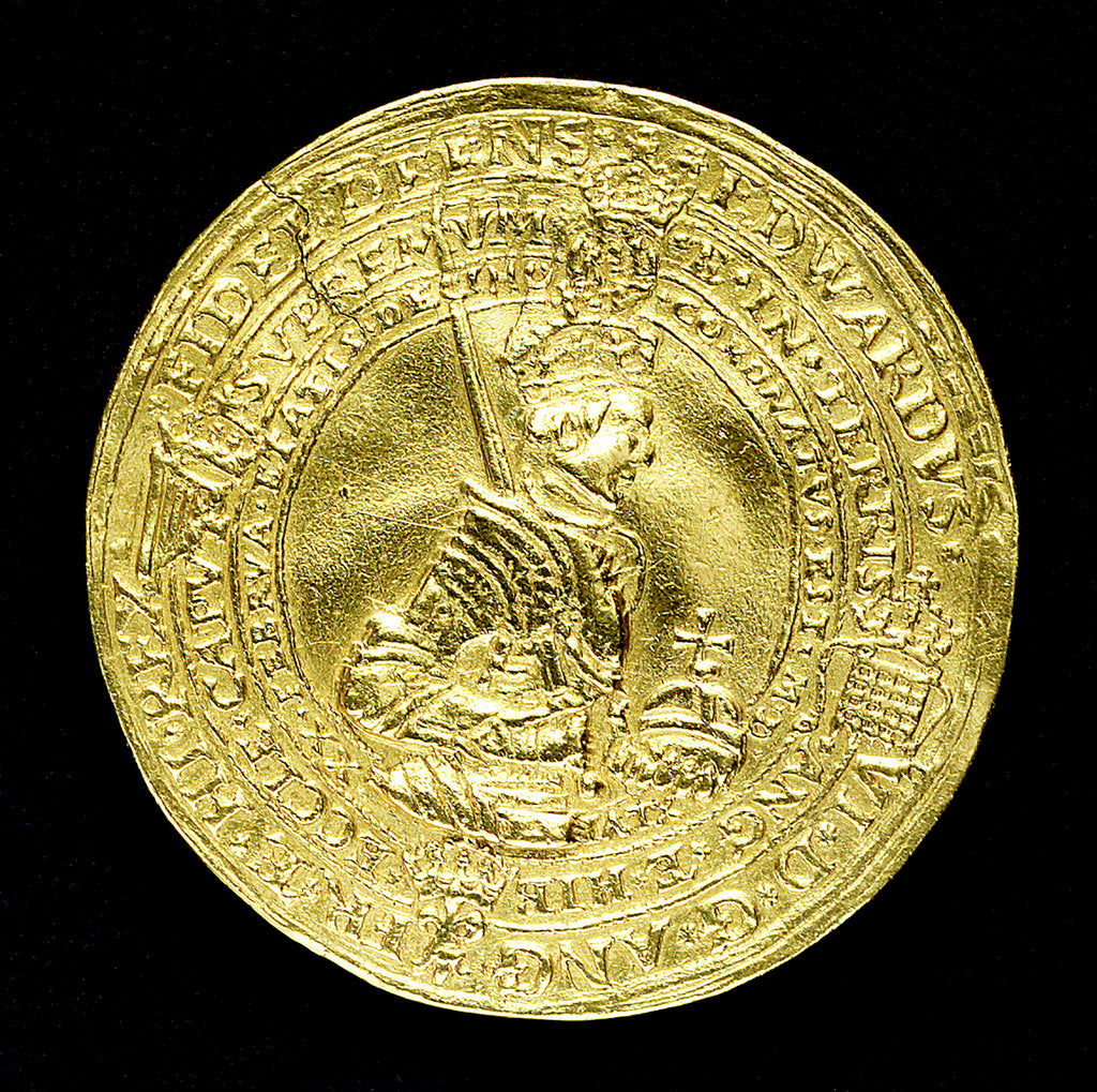Detail of Medal commemorating the Coronation of King Edward VI, 1546; obverse by Henry Basse