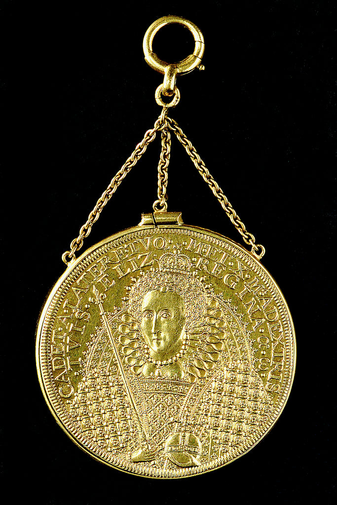Detail of Medal commemorating the success of Queen Elizabeth; obverse by unknown