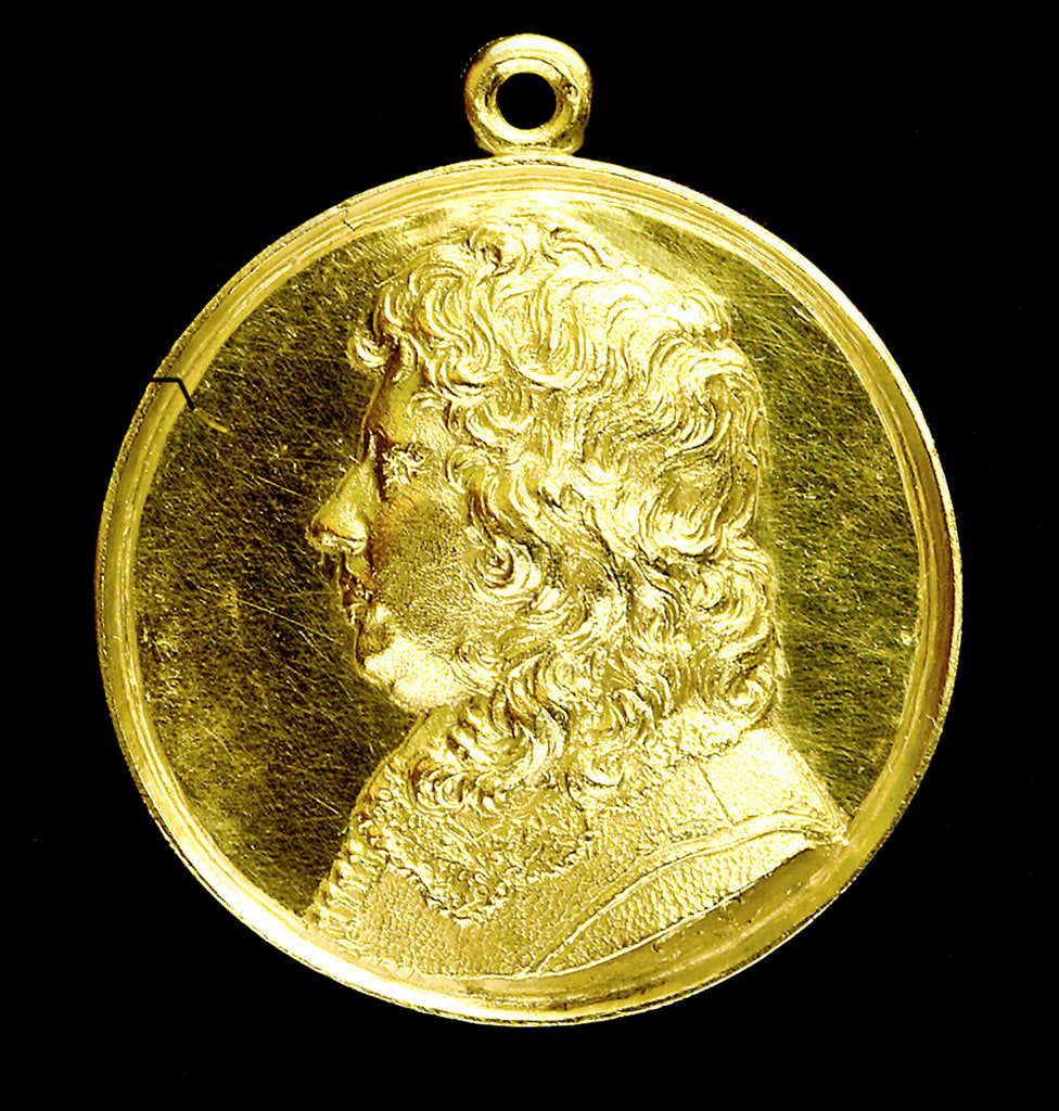 Detail of Medal commemorating Admiral Edward Montagu, 1st Earl of Sandwich (1625-1672); obverse by T. Simon