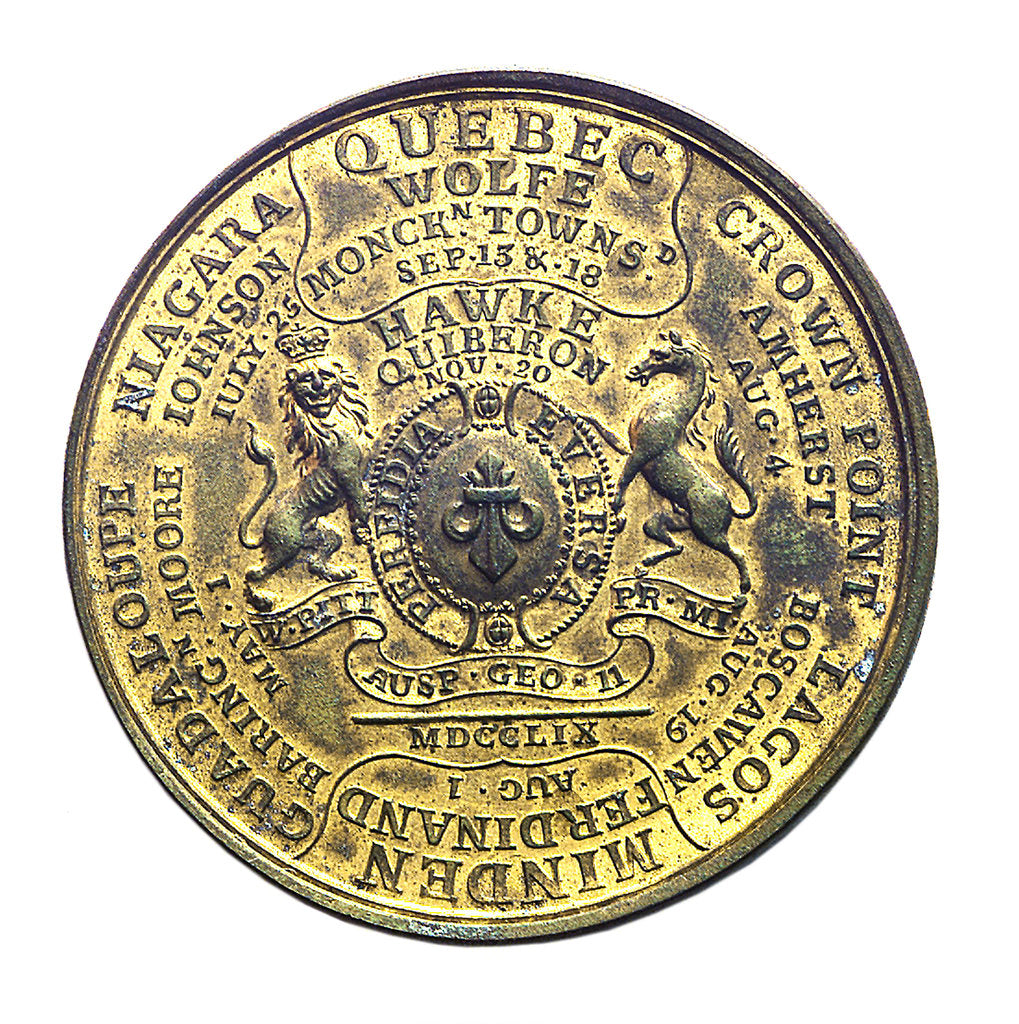 Detail of Medal commemorating the British victories of 1759; reverse by unknown