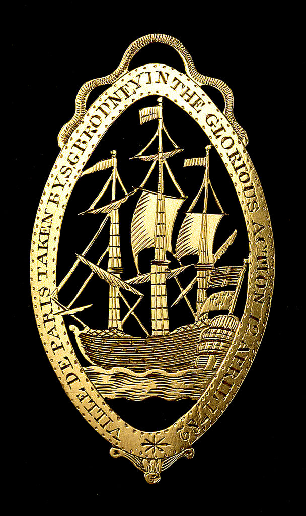 Detail of Badge commemorating the Battle of the Saints, 1782; reverse by unknown