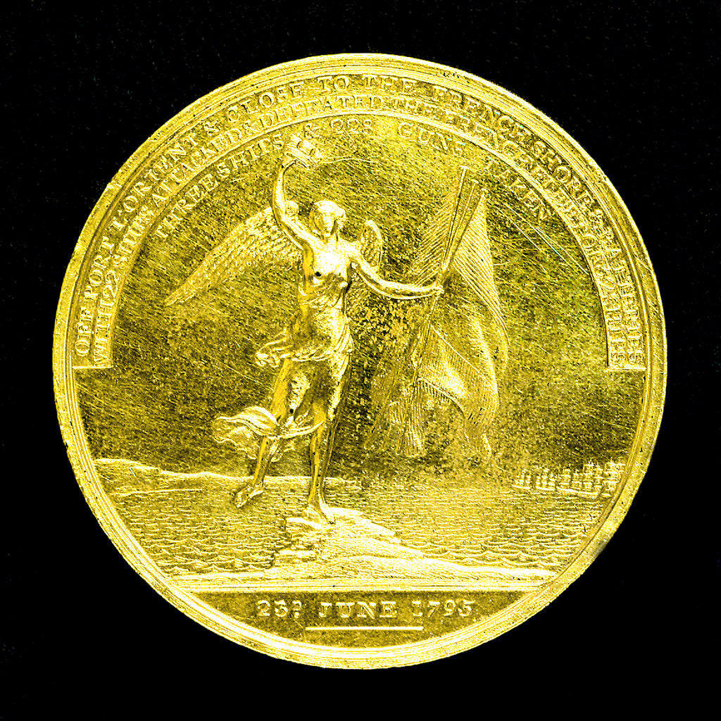 Detail of Medal commemorating the action off Ile de Groix, 1795; reverse by J.G. Hancock