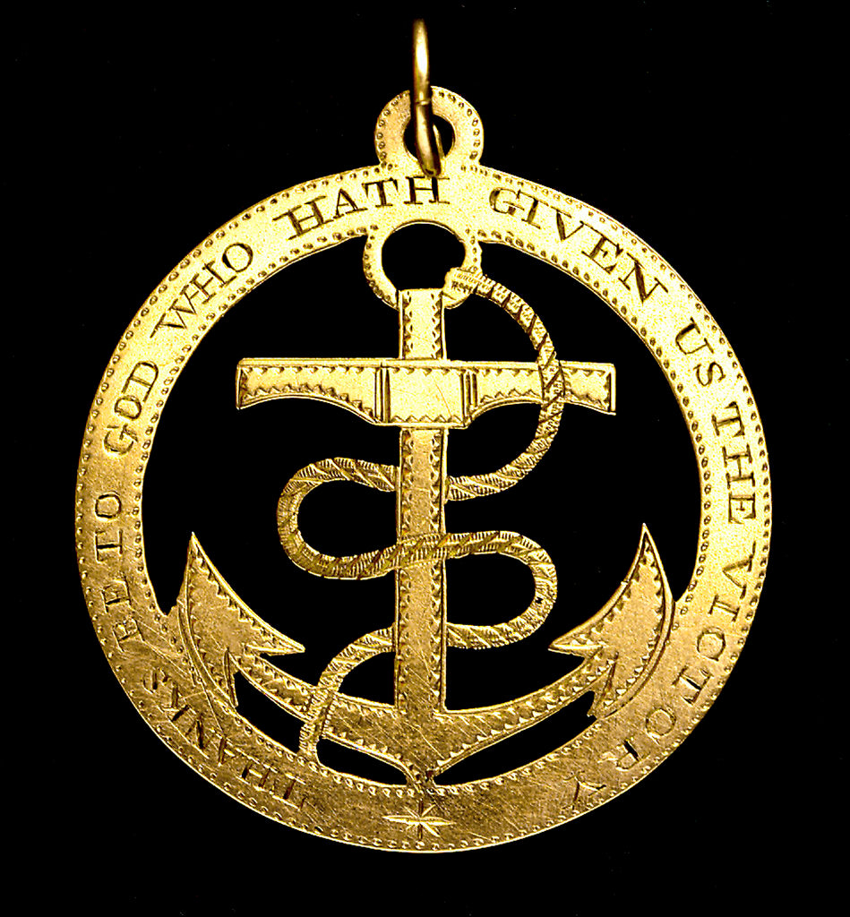 Badge commemorating the Battle of the Nile, 1798; obverse by unknown