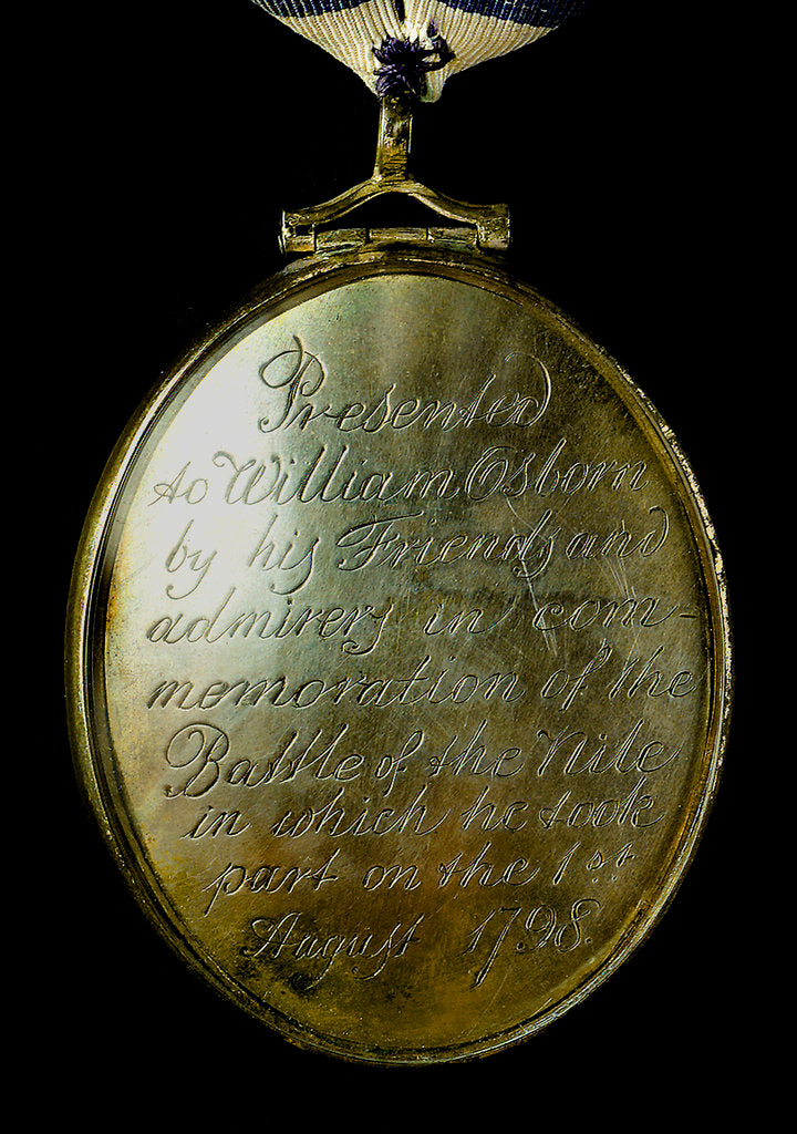 Detail of Locket commemorating the Battle of the Nile, 1798; obverse by unknown