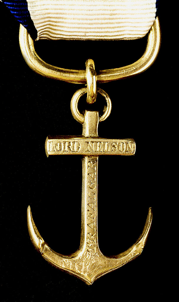 Detail of Pendant commemorating the Battle of Trafalgar, 1805; obverse by unknown
