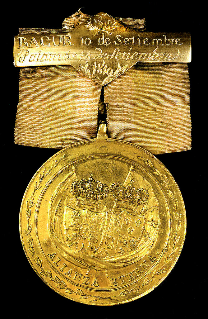 Detail of Medal commemorating Bagur and Palamos, 1810; reverse by unknown