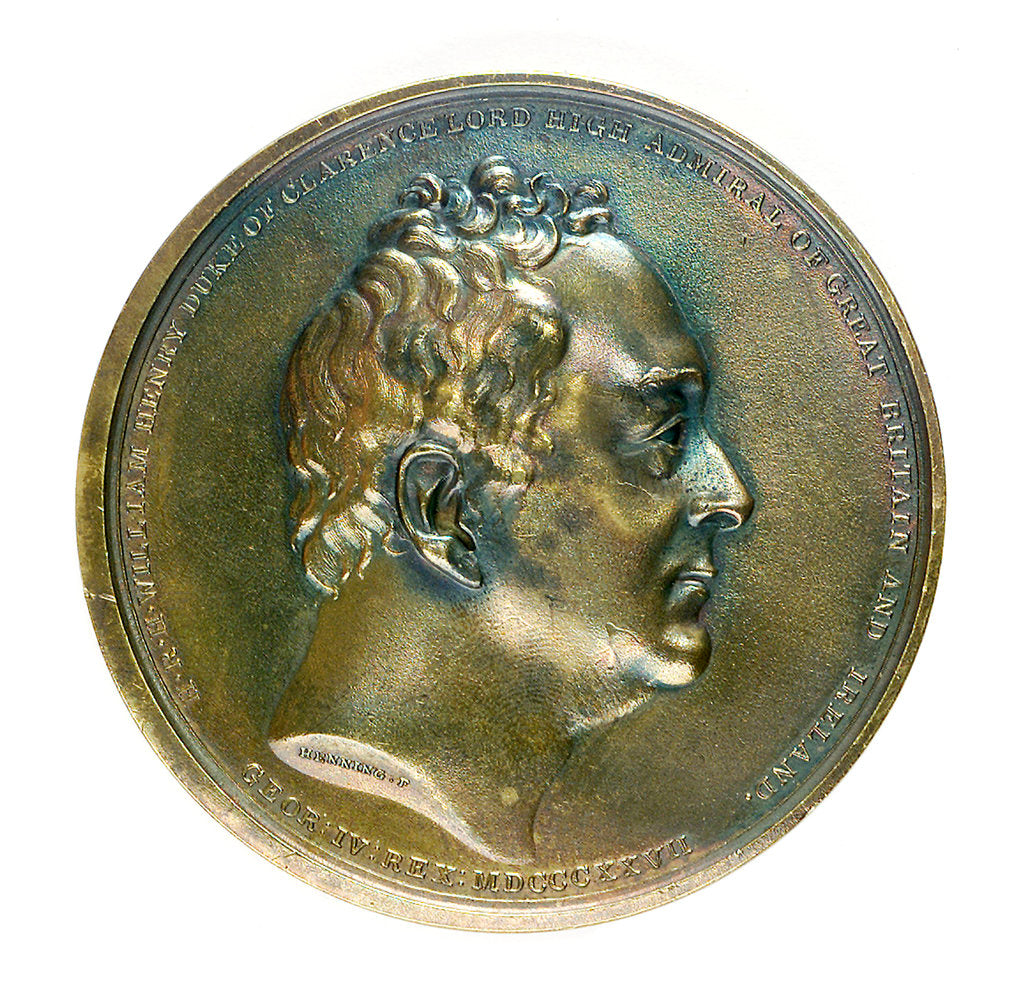 Detail of Medal commemorating the Duke of Clarence, Lord High Admiral; reverse by F. Henning