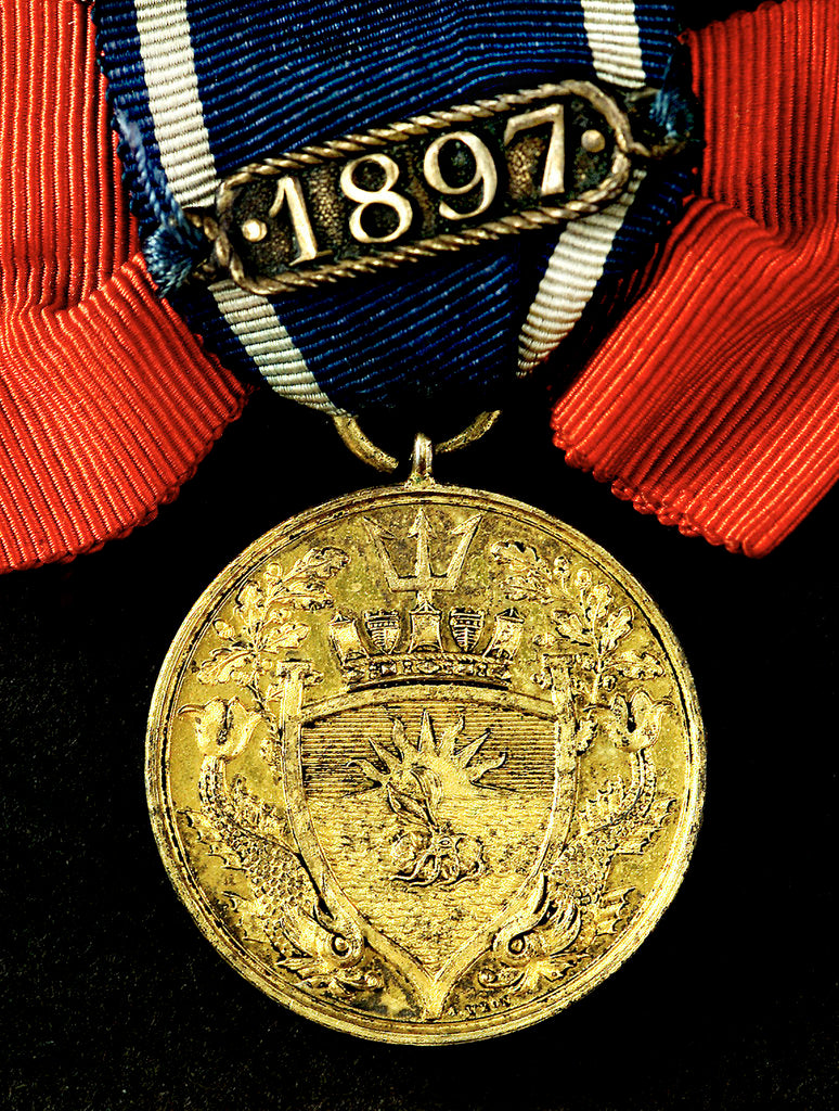 Detail of Medal commemorating the Institution of Naval Architects; reverse by A.B. Wyon