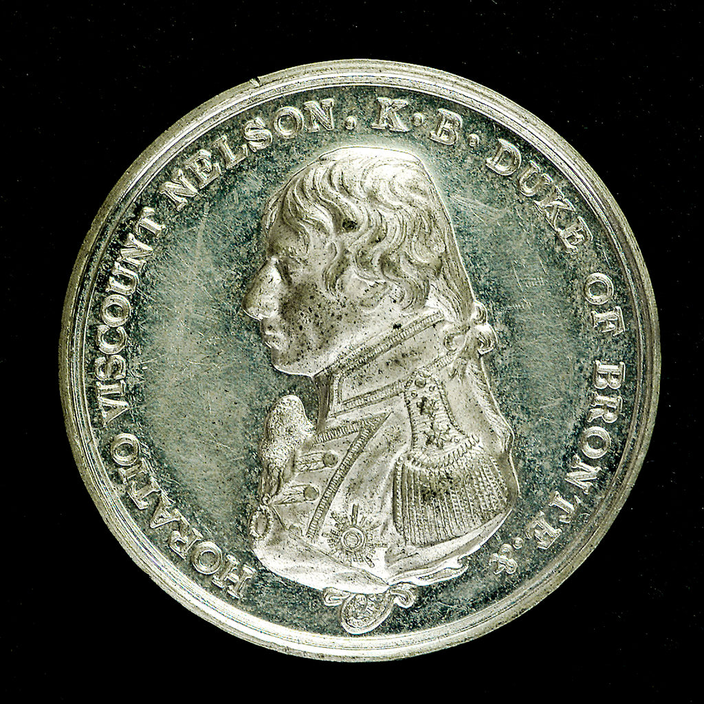 Medal commemorating the Trafalgar Centenary, 1905; obverse by Spink & Son Ltd.