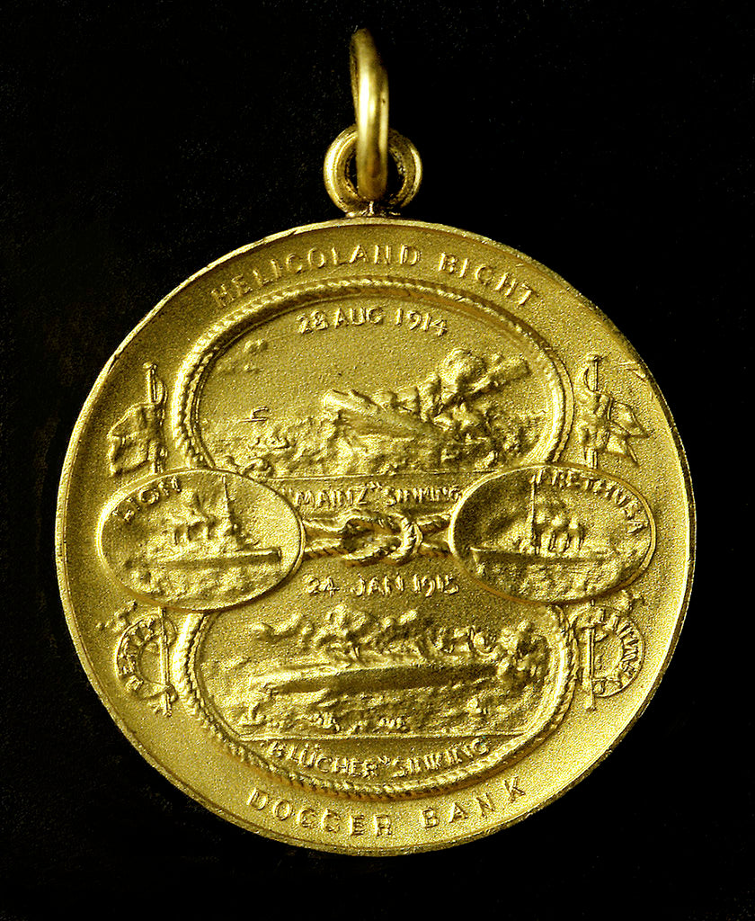 Detail of Medal commemorating the Heligoland Bight, 1914 and Dogger Bank, 1915; obverse by Marquis of Milford Haven