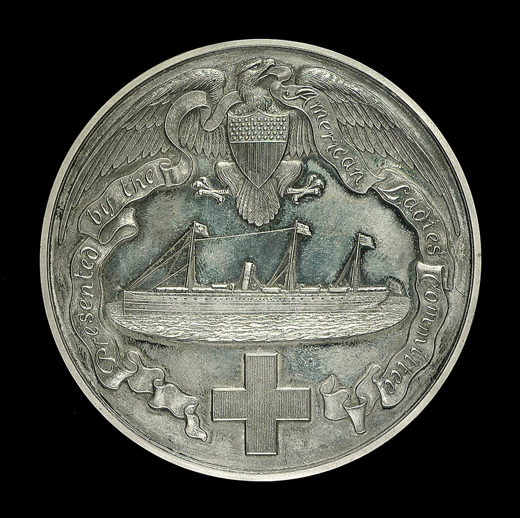 Detail of Medal commemorating AHS 'Maine' South Africa and China. 1899-1901; obverse by Tiffany & Co.