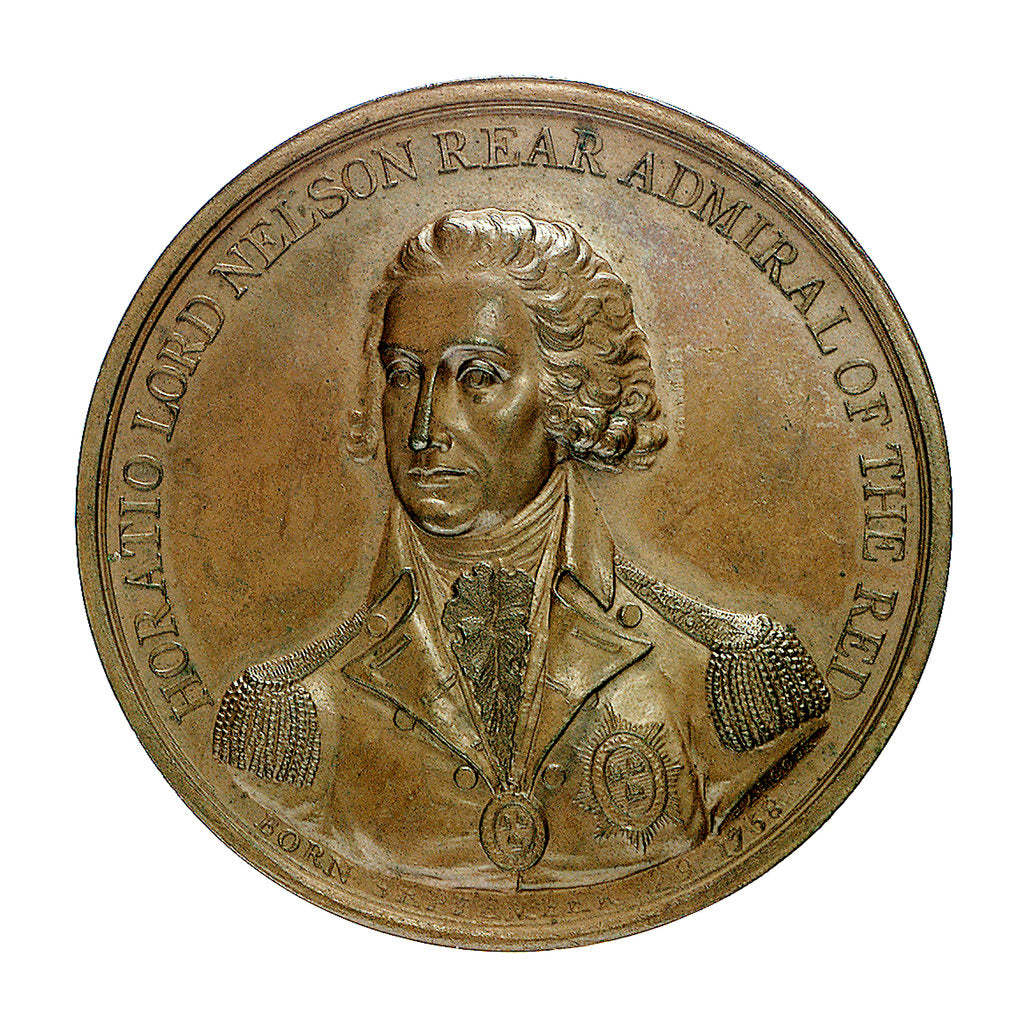 Detail of Medal commemorating the Battle of the Nile, 1798; obverse by J.G. Hancock