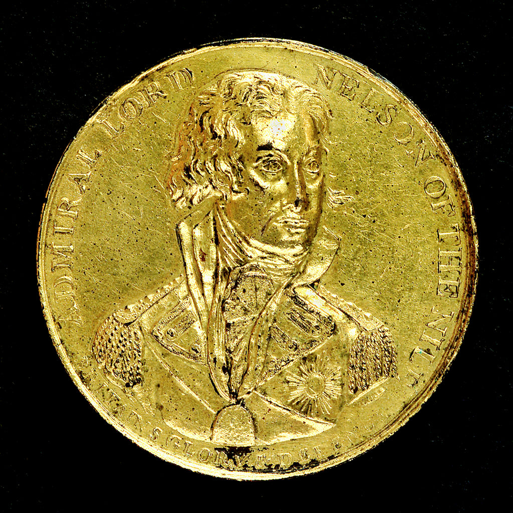 Detail of Medal commemorating the Battle of the Nile, 1798; obverse by T. Wyon