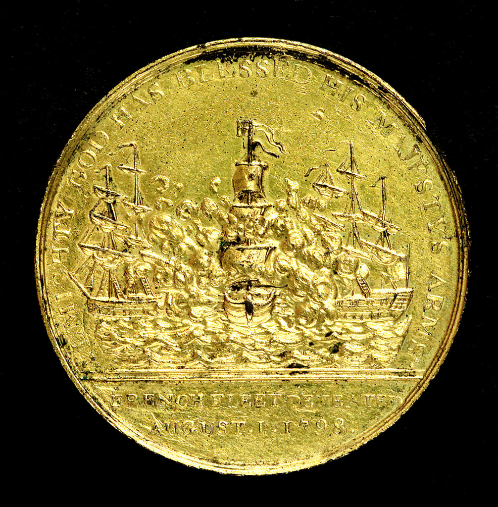 Detail of Medal commemorating the Battle of the Nile, 1798; reverse by T. Wyon