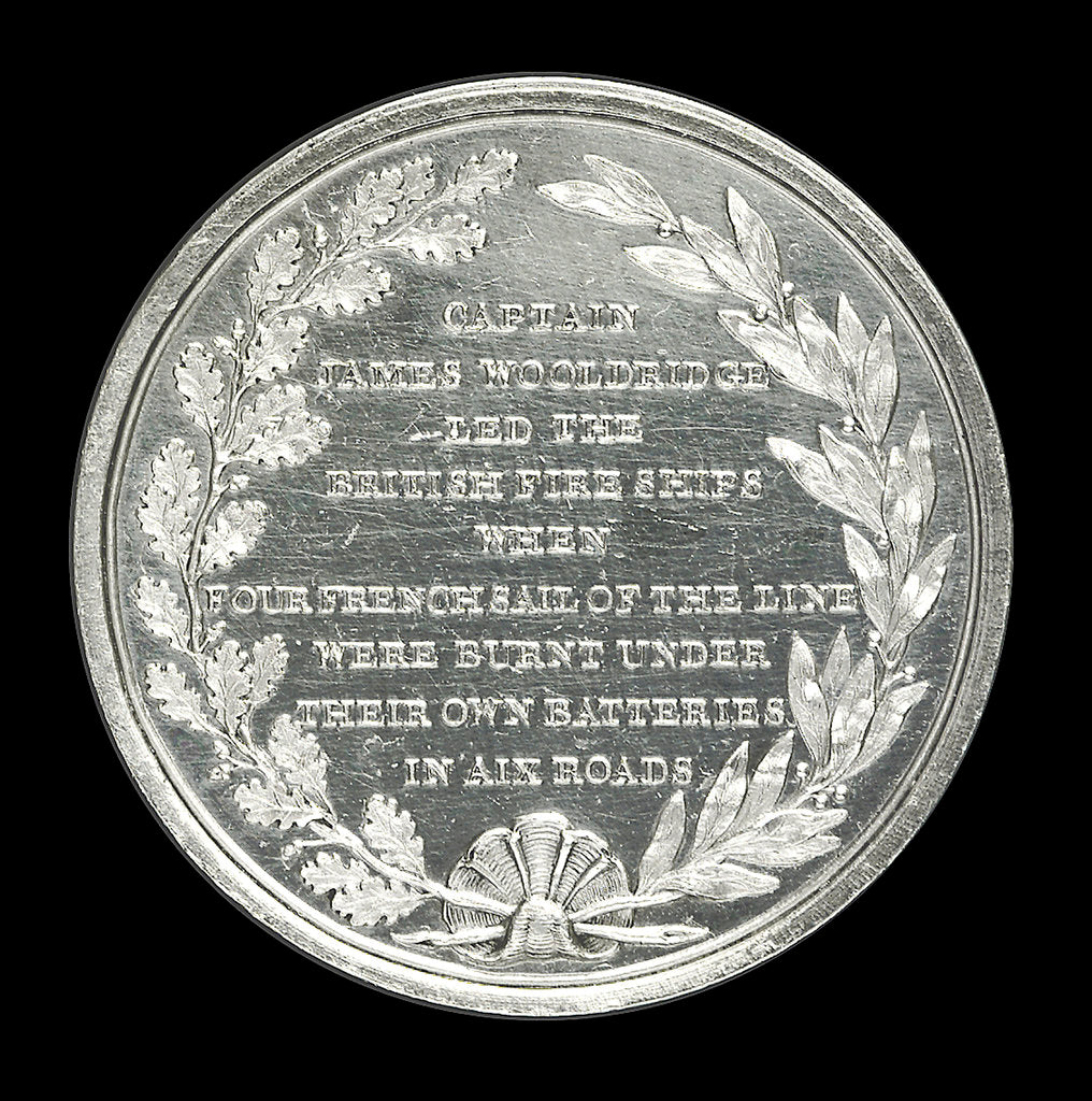 Detail of Medal commemorating the 'Mediator' Frigate and Captain J. Wooldridge, 1809; reverse by unknown
