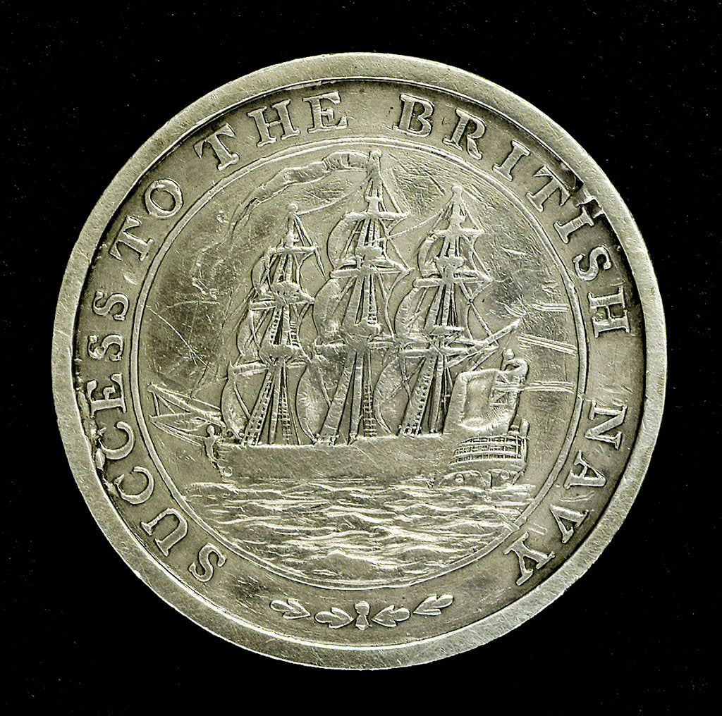 Detail of Medal inscribed success to the British Navy; reverse by unknown