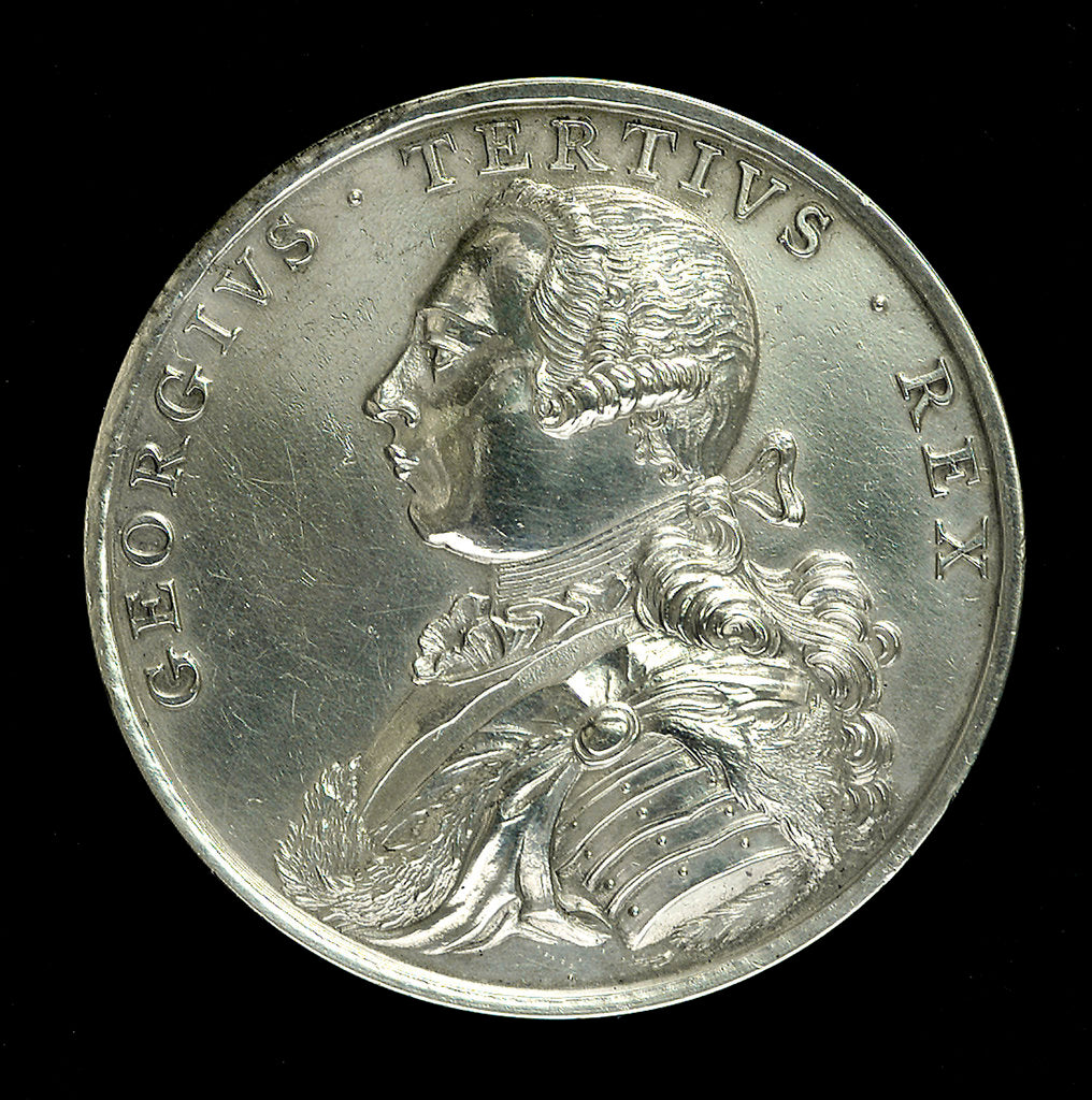 Detail of Medal commemorating the capture of Belle Isle, 1761; obverse by unknown