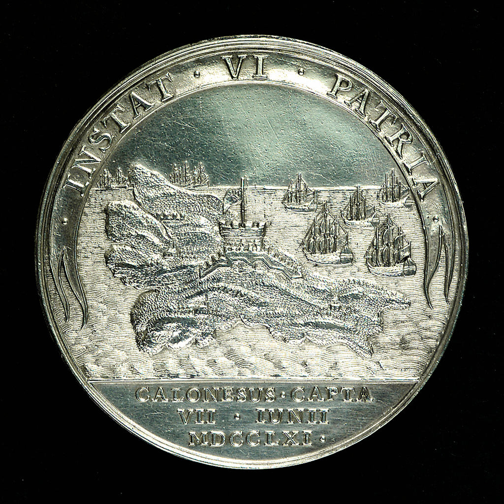Detail of Medal commemorating the capture of Belle Isle, 1761; reverse by unknown