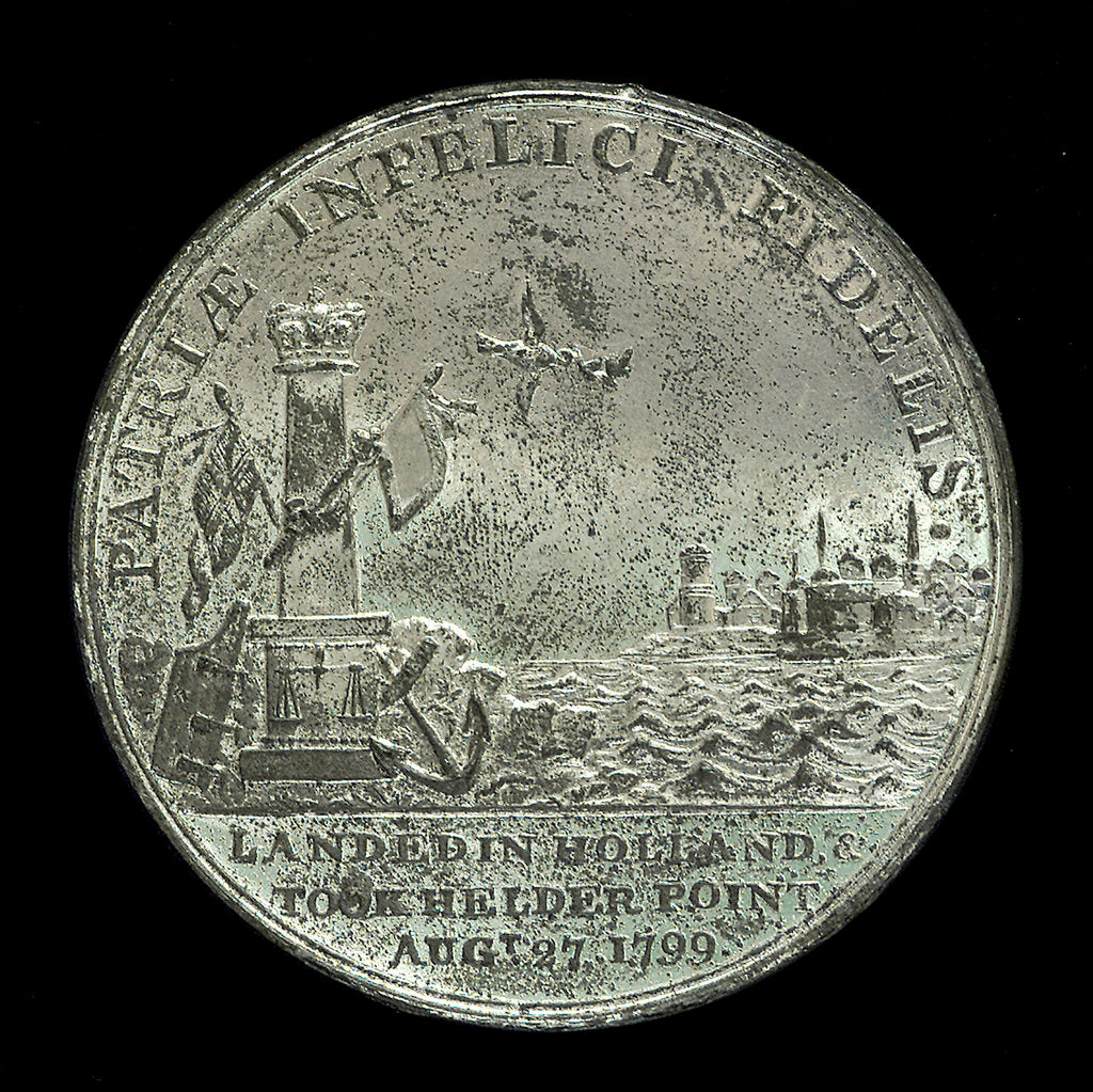 Detail of Medal commemorating the landing in Holland, 1799 and Sir Ralph Abercromby (1734-1801); reverse by unknown
