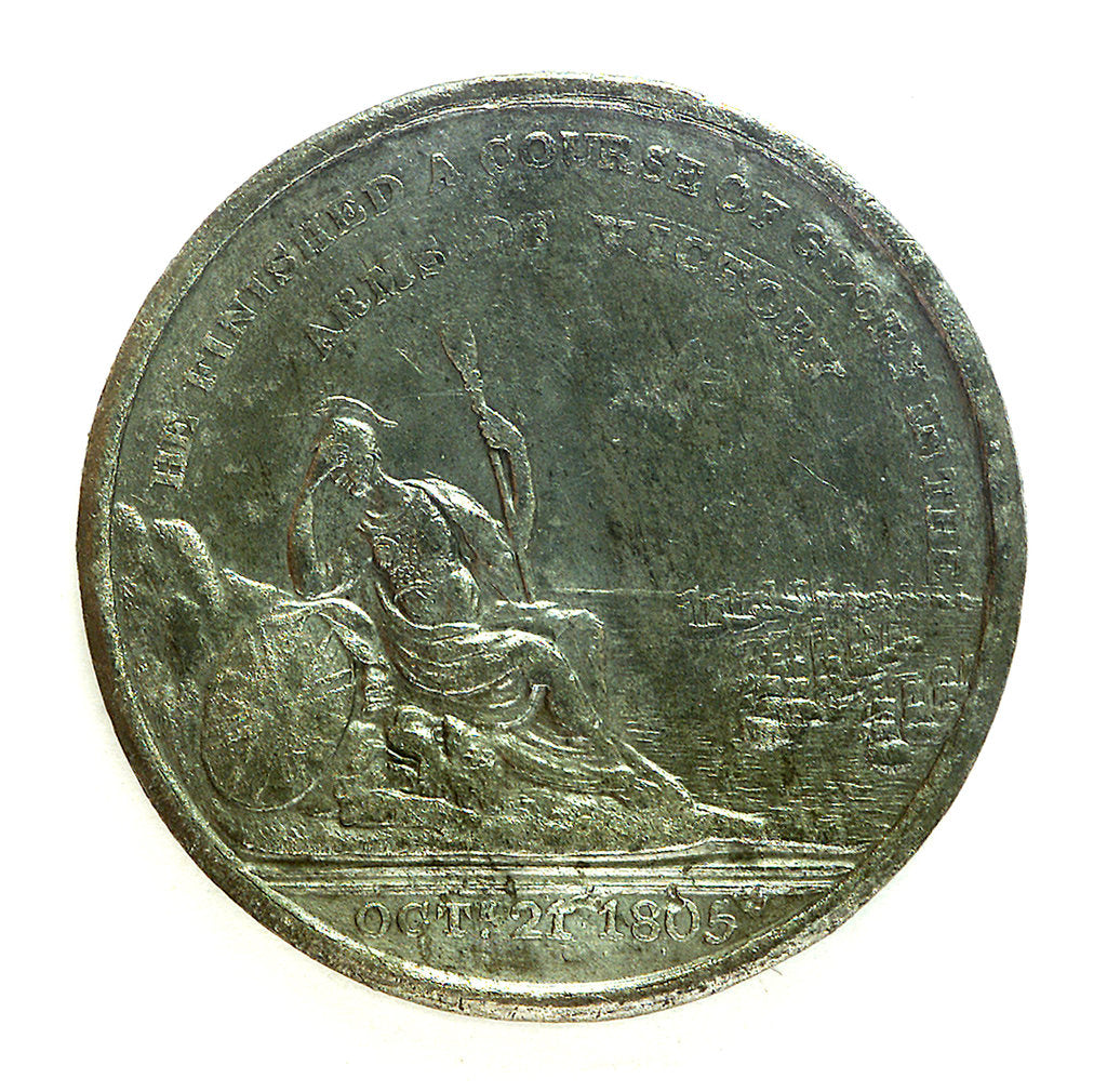 Detail of Medal commemorating the Nelson monument at Birmingham; reverse by unknown
