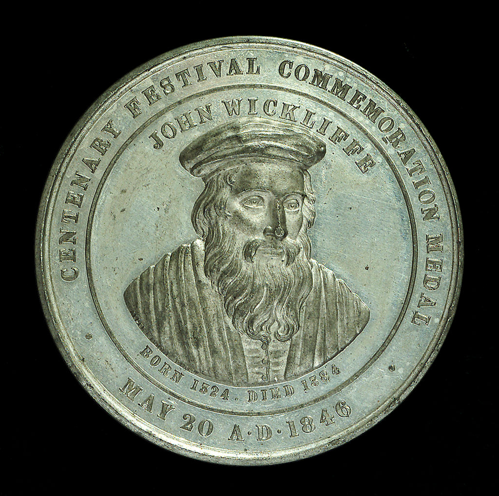 Detail of Medal commemorating the centenary of the Lutterworth Tradesmen's original Benefit Society, 1846; obverse by unknown