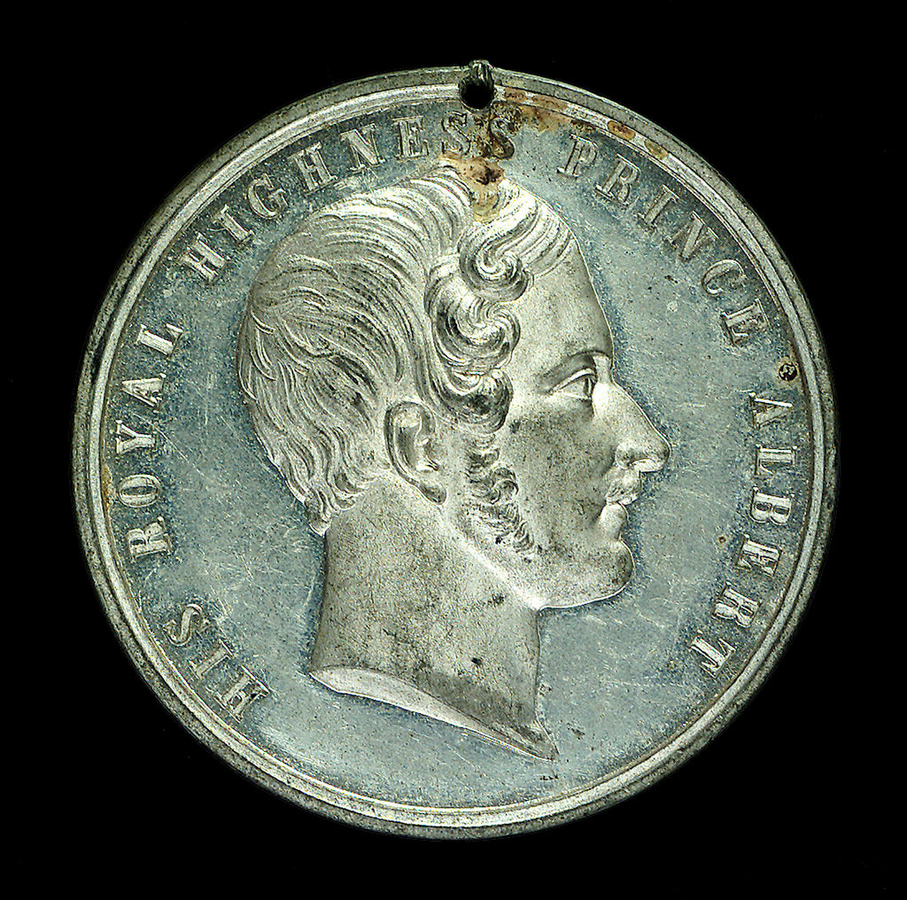 Detail of Medal commemorating the Sailors' Home, Liverpool; obverse by unknown