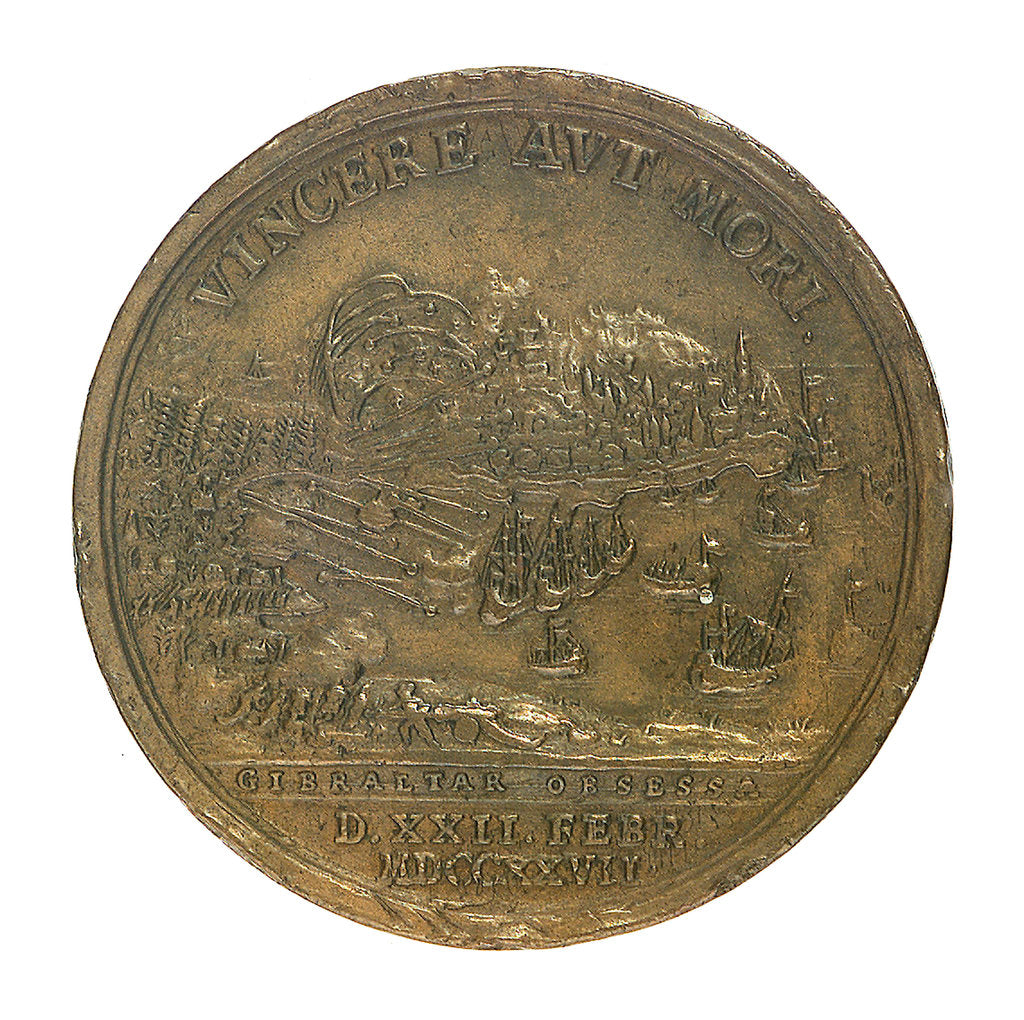 Detail of Medal commemorating the Siege of Gibraltar, 1727; obverse by unknown