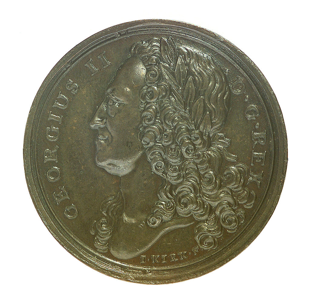 Medal commemorating the Peace of Aix-la-Chapelle, 1748; obverse by J. Kirk