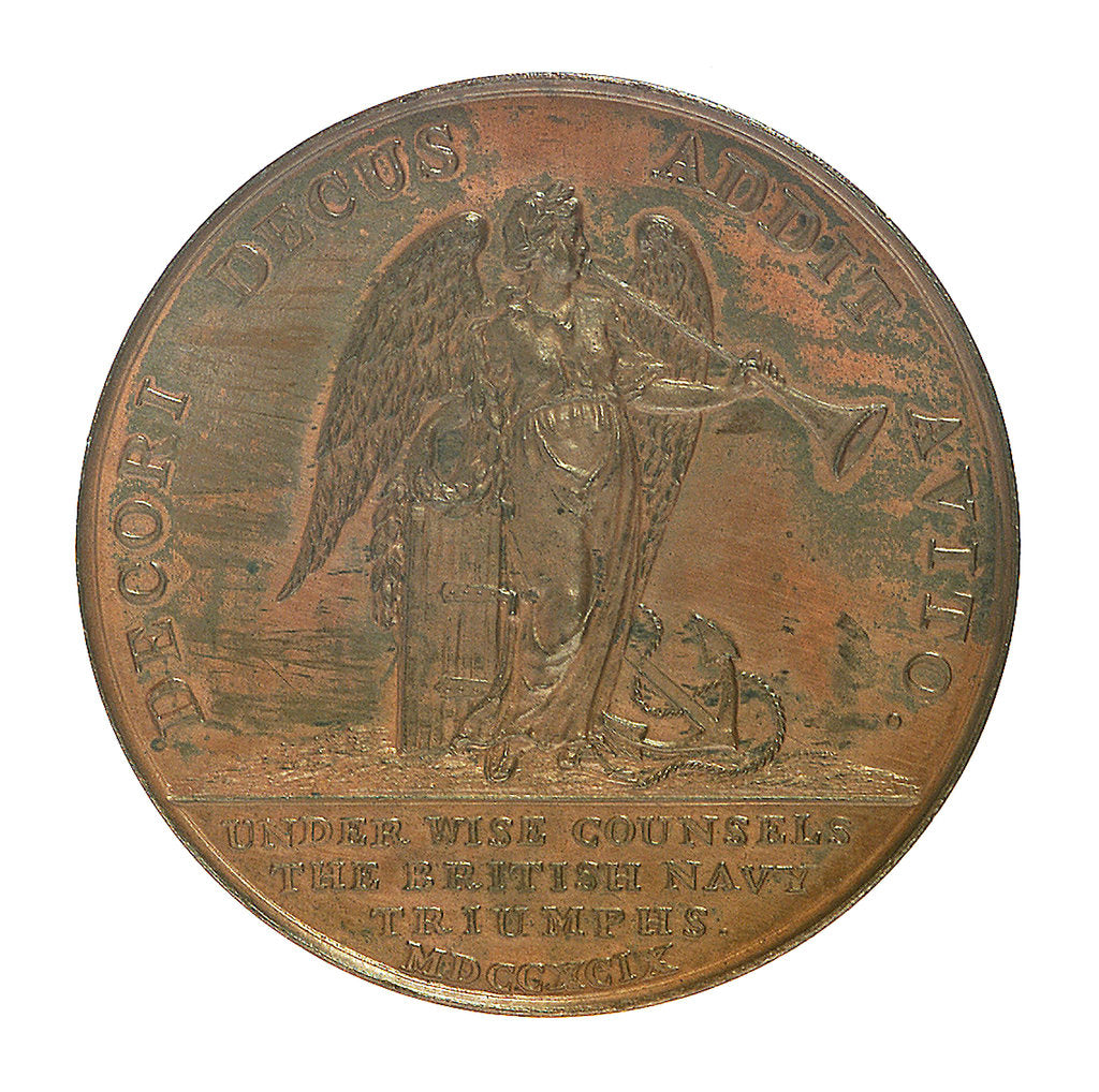 Detail of Medal commemorating Earl Spencer First Lord of the Admiralty (1758-1834); reverse by T. Wyon
