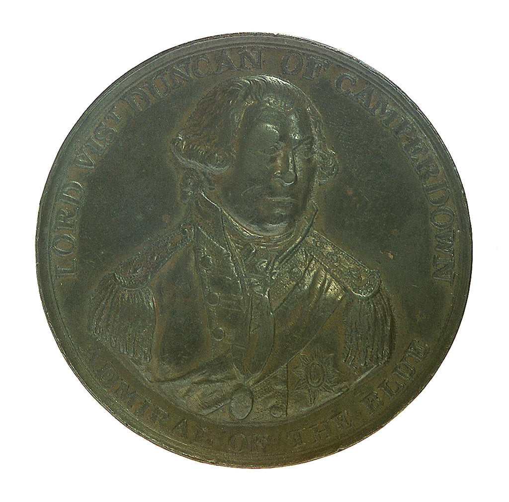 Detail of Medal commemorating the Battle of Camperdown, 1797 and Admiral of the Fleet, Adam Duncan (1731-1804); obverse by unknown
