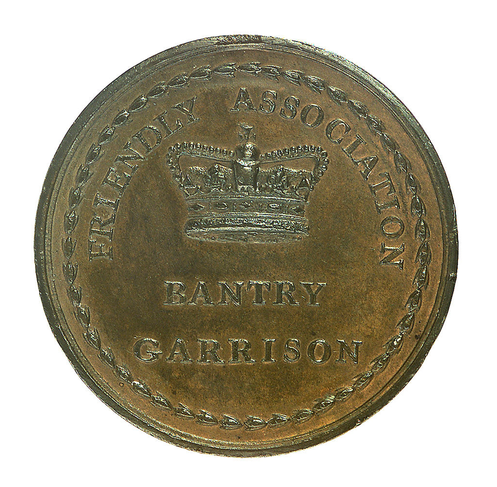 Detail of Medal commemorating the French expedition to Ireland 1796-1797 and The Irish Friendly Association; reverse by W. Mossop