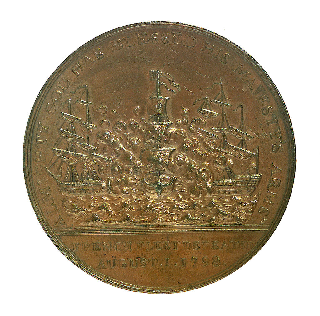 Detail of Medal commemorating the Battle of the Nile, 1798; reverse by unknown