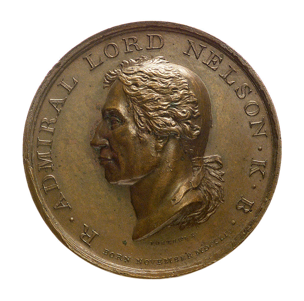 Detail of Medal commemorating the Battle of the Nile, 1798; obverse by Ponthon