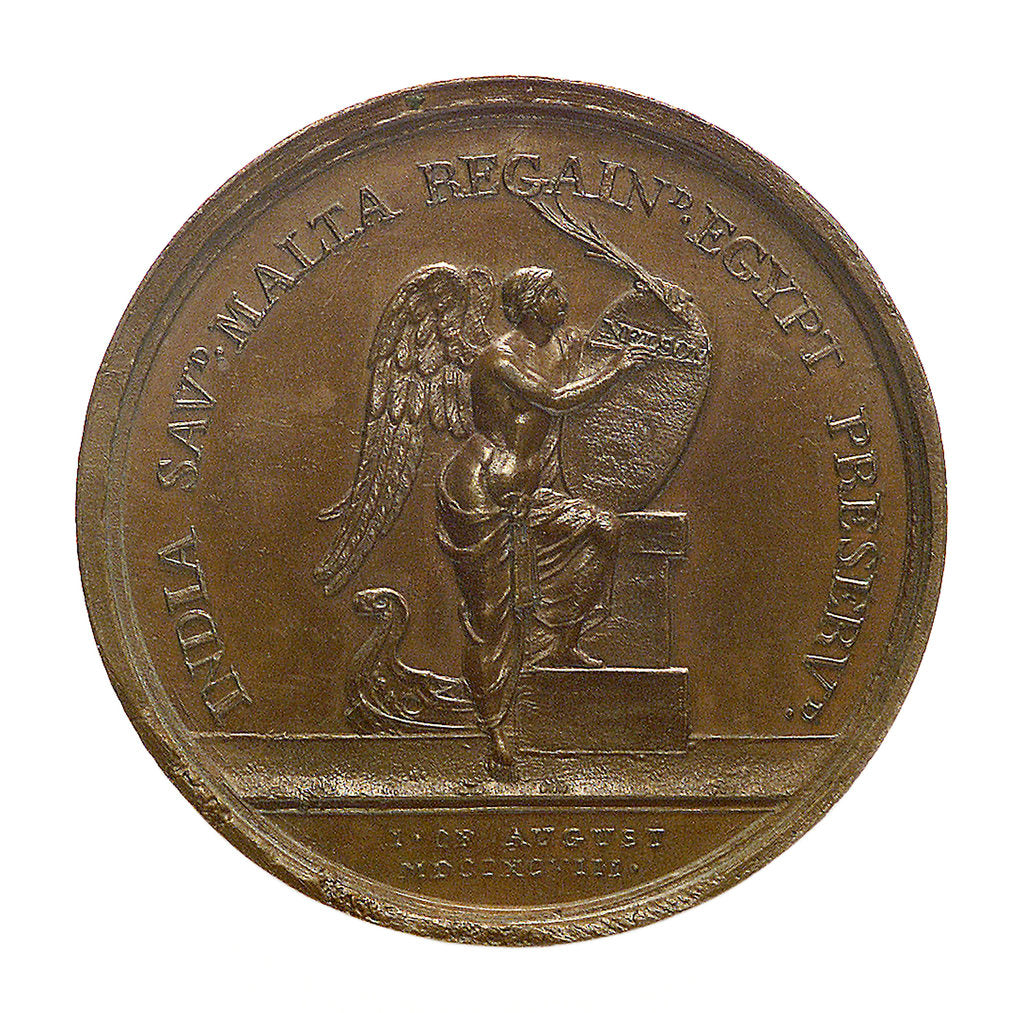 Detail of Medal commemorating the Battle of the Nile, 1798; reverse by Ponthon