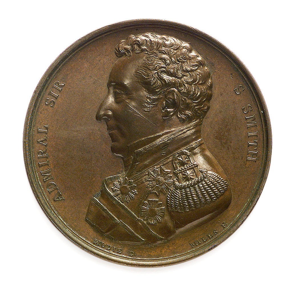 Detail of Medal commemorating the defence of Acre, 1799 and Sir William Sidney Smith (1764-1840); obverse by George Mills