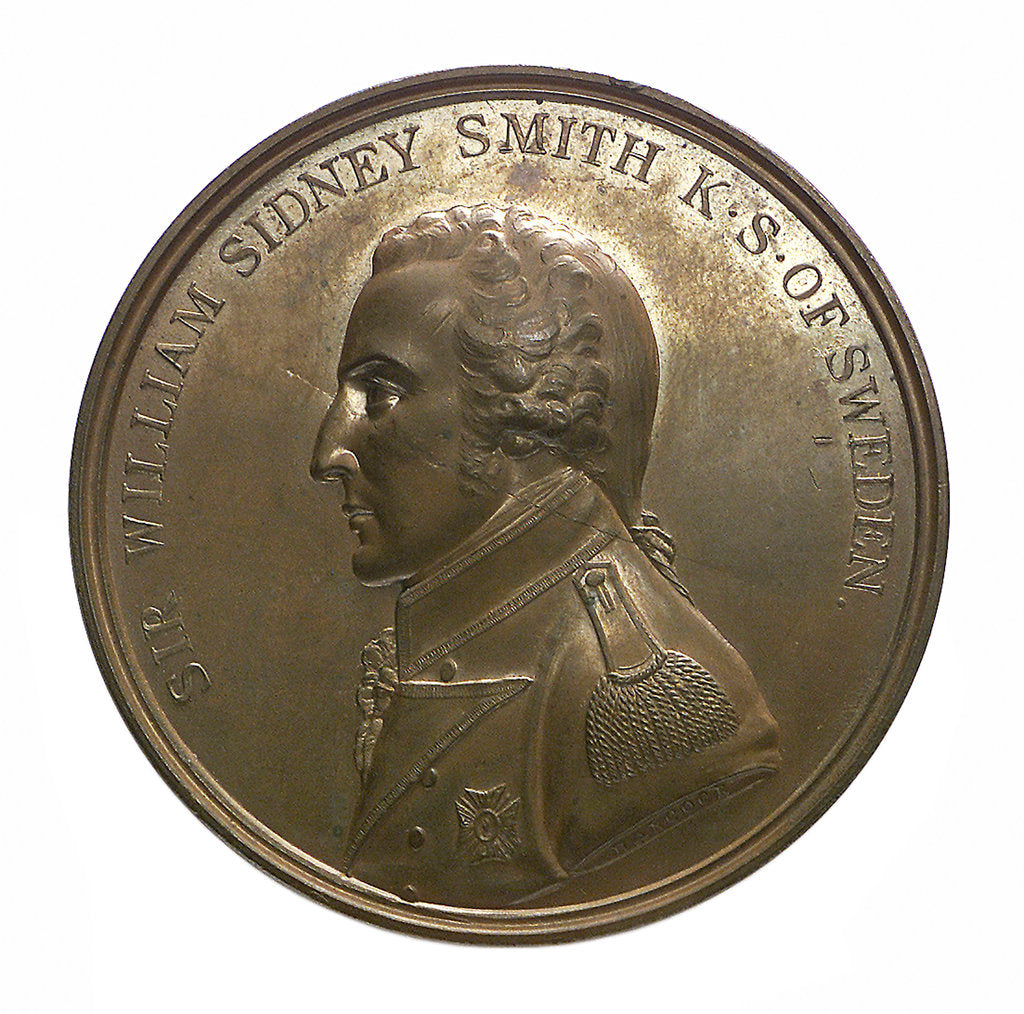 Detail of Medal commemorating the defence of Acre, 1799 and Sir William Sidney Smith (1764-1840); obverse by J.G. Hancock