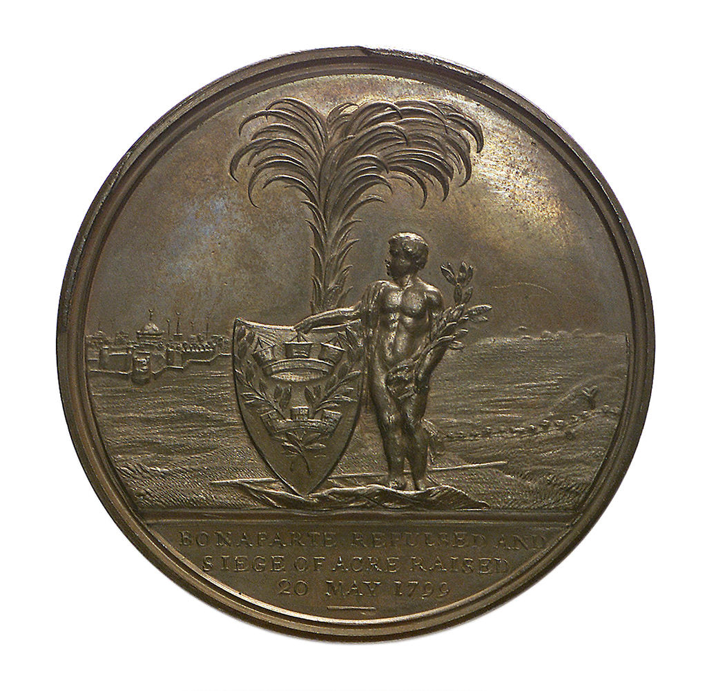 Detail of Medal commemorating the defence of Acre, 1799 and Sir William Sidney Smith (1764-1840); reverse by J.G. Hancock