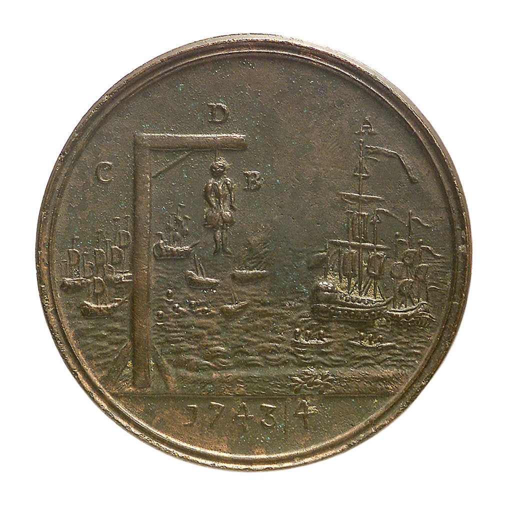 Detail of Medal commemorating the action off Toulon, 1744; reverse by unknown