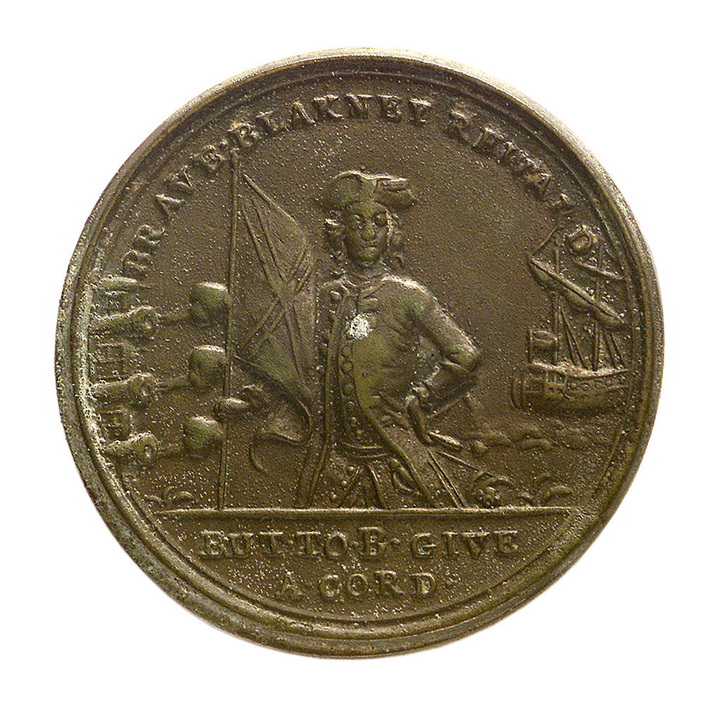 Detail of Counter commemorating the loss of Minorca, 1756; reverse by unknown