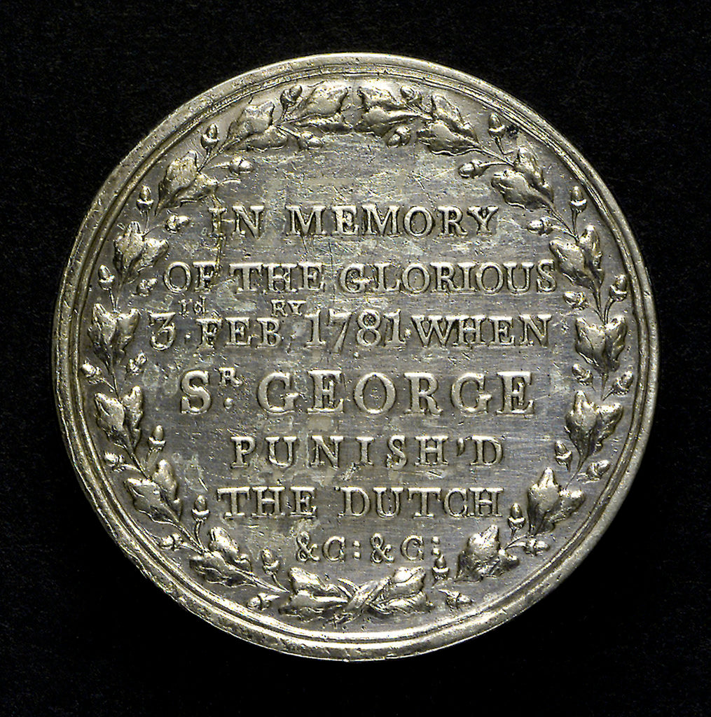 Counter commemorating the capture of St Eustatius, 1781; reverse by unknown