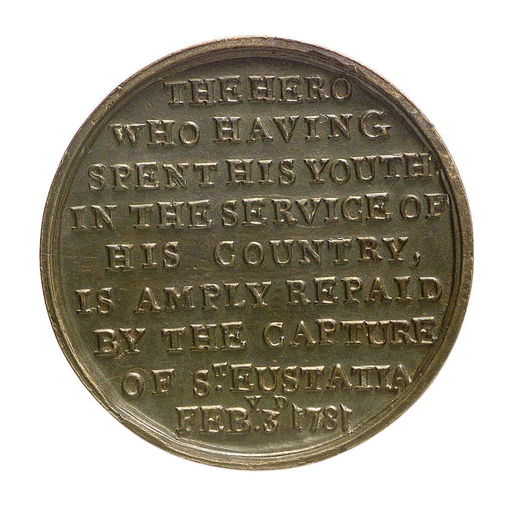 Detail of Counter commemorating the capture of St Eustatius, 1781; reverse by unknown