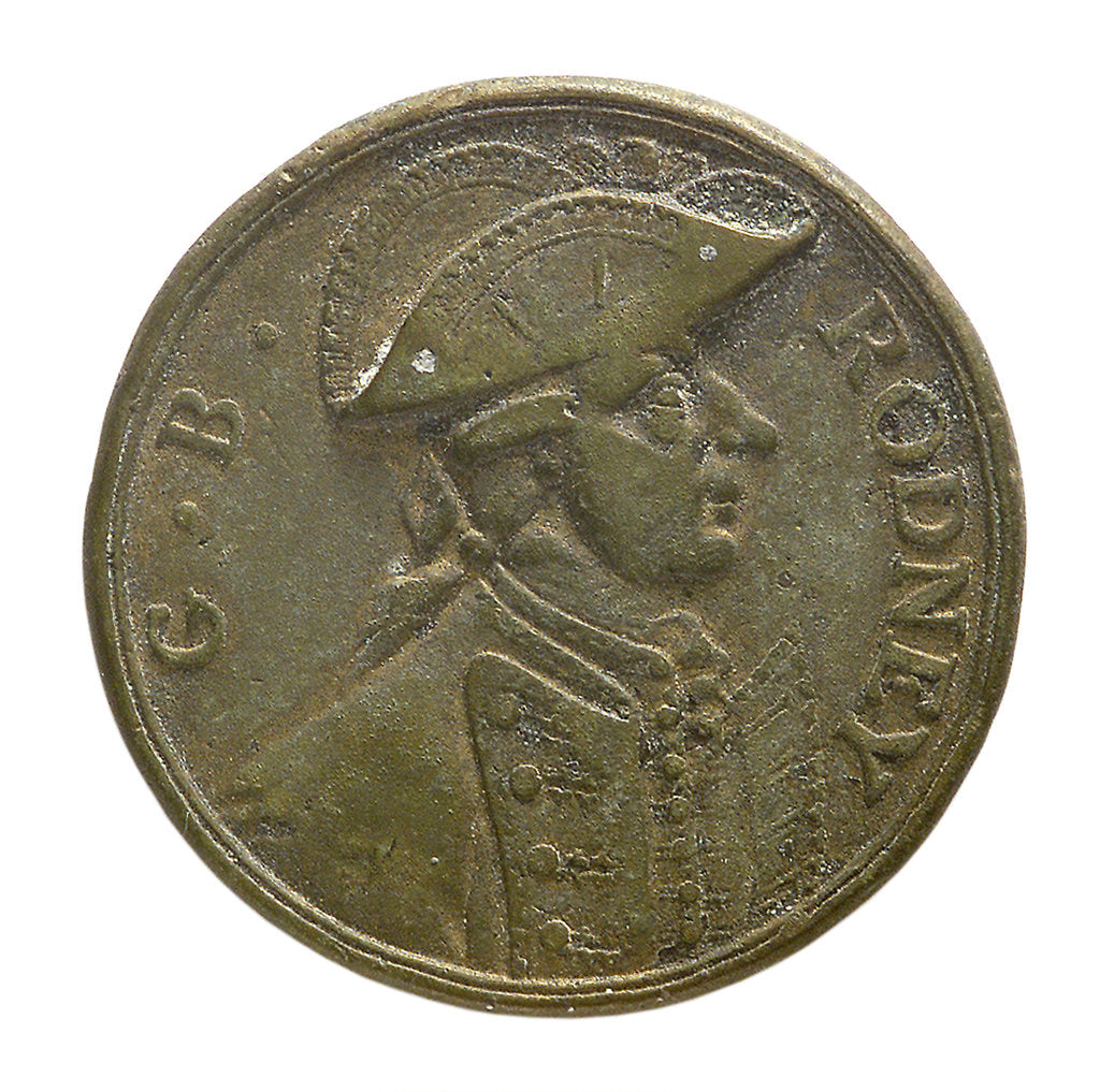 Detail of Counter commemorating the capture of St Eustatius, 1781; obverse by unknown