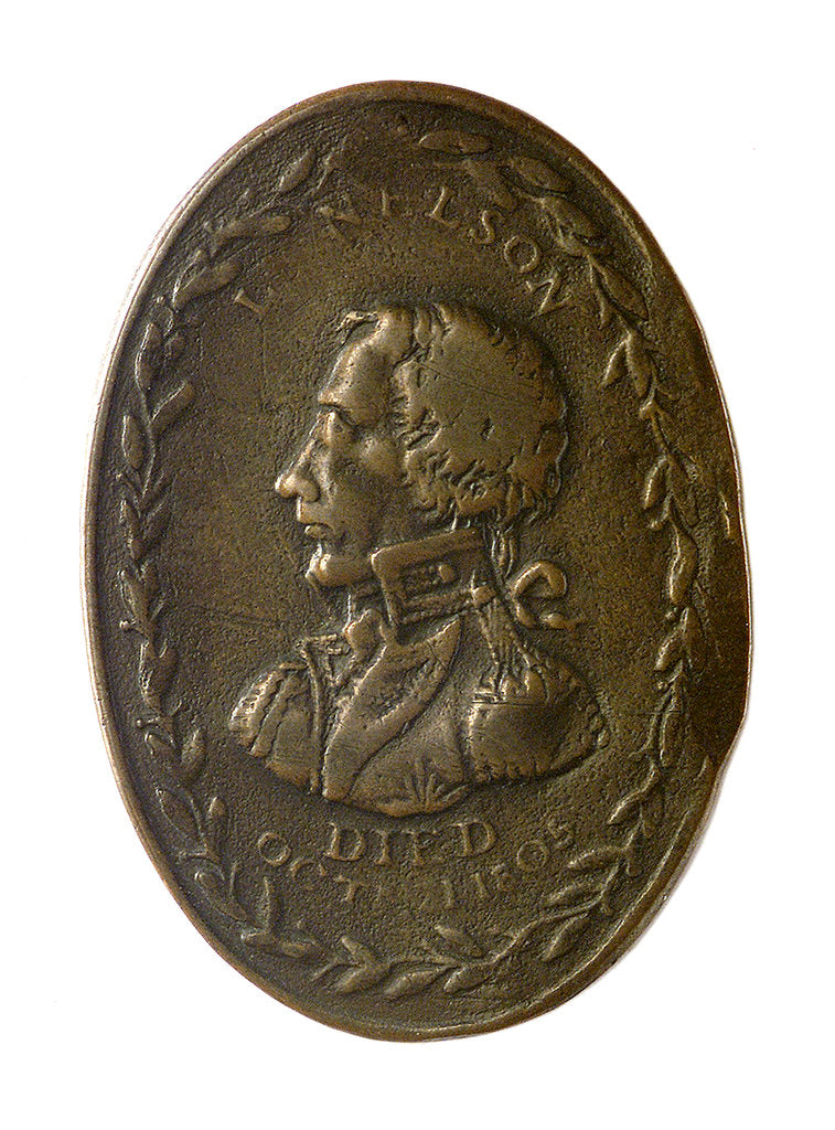 Detail of Counter commemorating Vice-Admiral Horatio Nelson (1758-1805); obverse by unknown