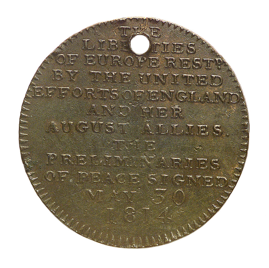 Detail of Counter commemorating the Congress of Vienna, 1814; reverse by Kettle