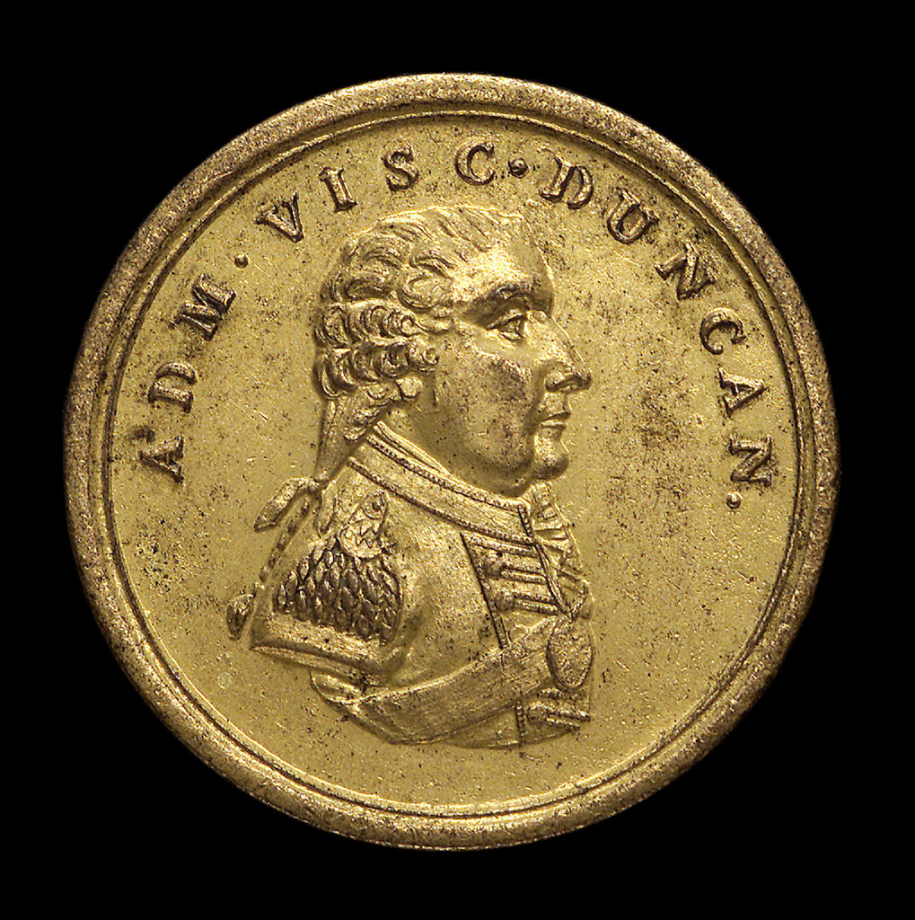 Detail of Counter commemorating the Battle of Camperdown 1797 and Admiral Adam Duncan (1731-1804); obverse by unknown