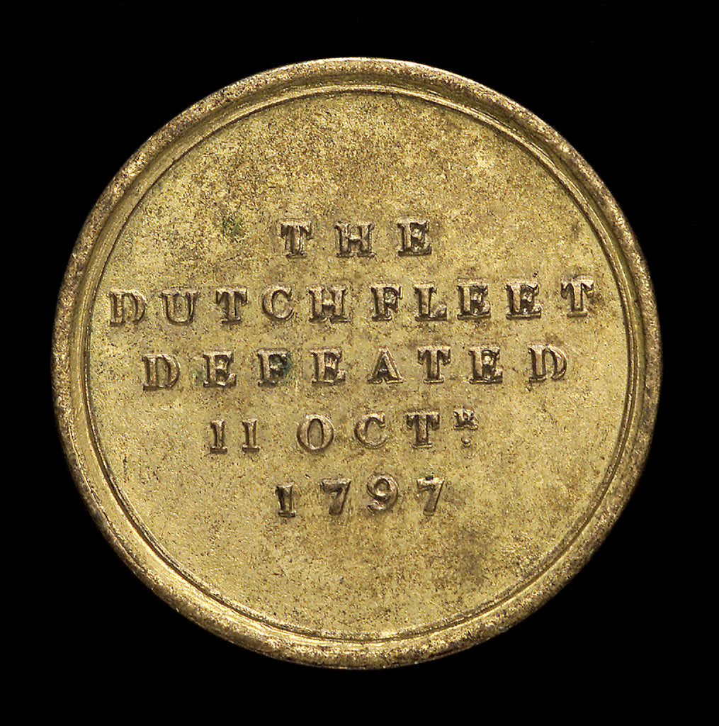 Detail of Counter commemorating the Battle of Camperdown 1797 and Admiral Adam Duncan (1731-1804); reverse by unknown