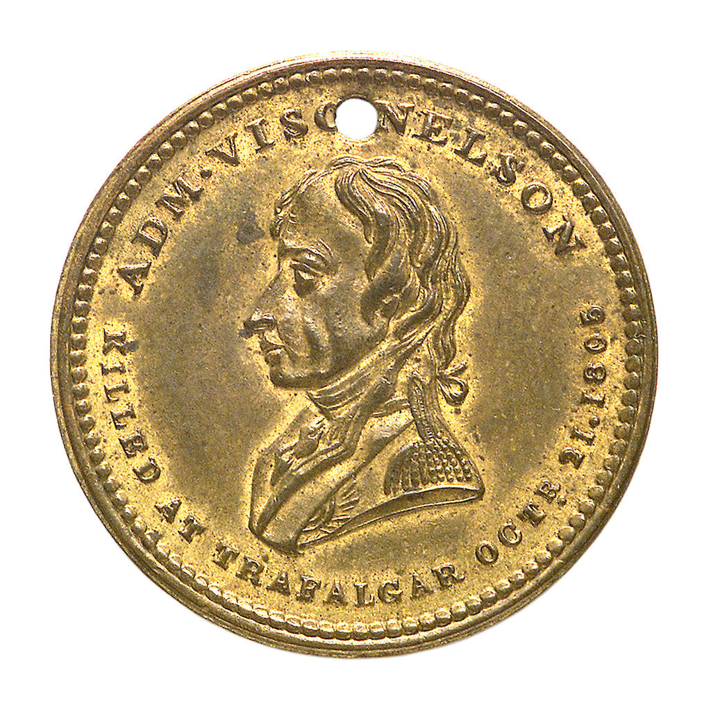 Detail of Medal commemorating Vice-Admiral Horatio Nelson (1758-1805); obverse by unknown
