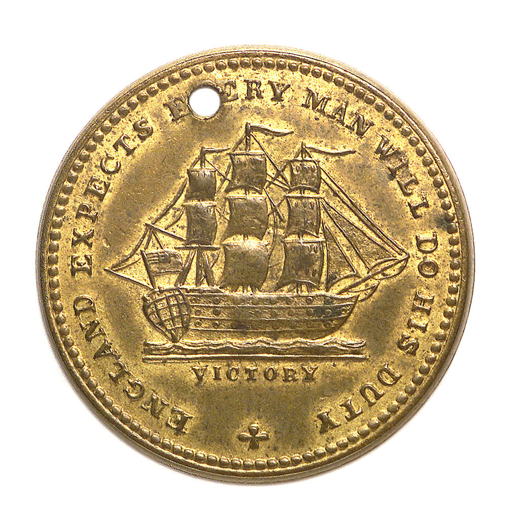 Detail of Medal commemorating Vice-Admiral Horatio Nelson (1758-1805); reverse by unknown