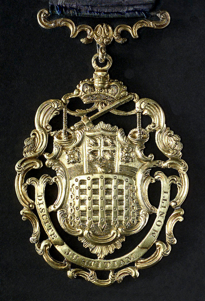 Detail of Medalet depicting the Arms of the City of Westminster; obverse by unknown